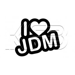 Sticker I love JDM V1