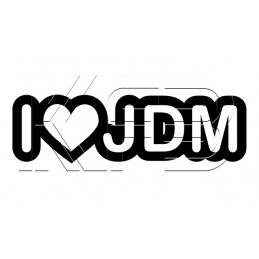 Sticker I love JDM V2