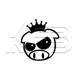 Sticker JDM Pig mit Krone