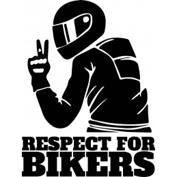 Sticker Respect for Bikers