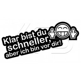Sticker Klar bist du...