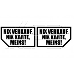 Sticker Nix Verkauf, Nix...