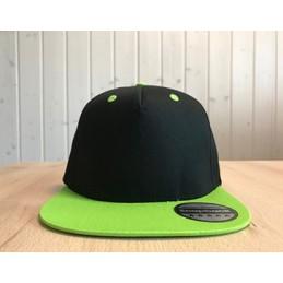Snapback Schwarz/Grün mit...