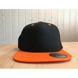 Snapback Schwarz/Orange mit...