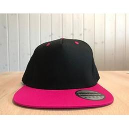 Snapback Schwarz/Pink mit...