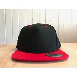 Snapback Schwarz/Rot mit...