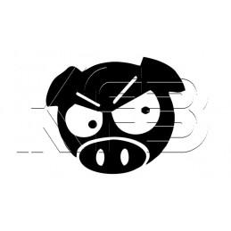 Sticker Angry JDM Pig