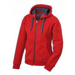 Wunschbedruckung Jacke Red/Carbon