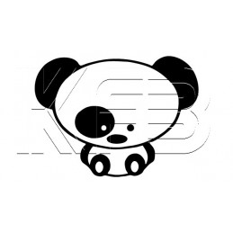 Sticker Black Eye Panda