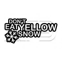 Sticker Don't Eat Yellow Snow
