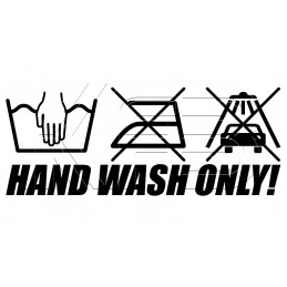 Sticker Hand Wash Only