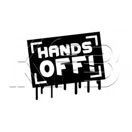 Sticker Hands Off!